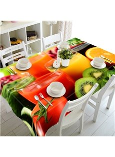 Charming Fruit Juice Pattern 3D Tablecloth