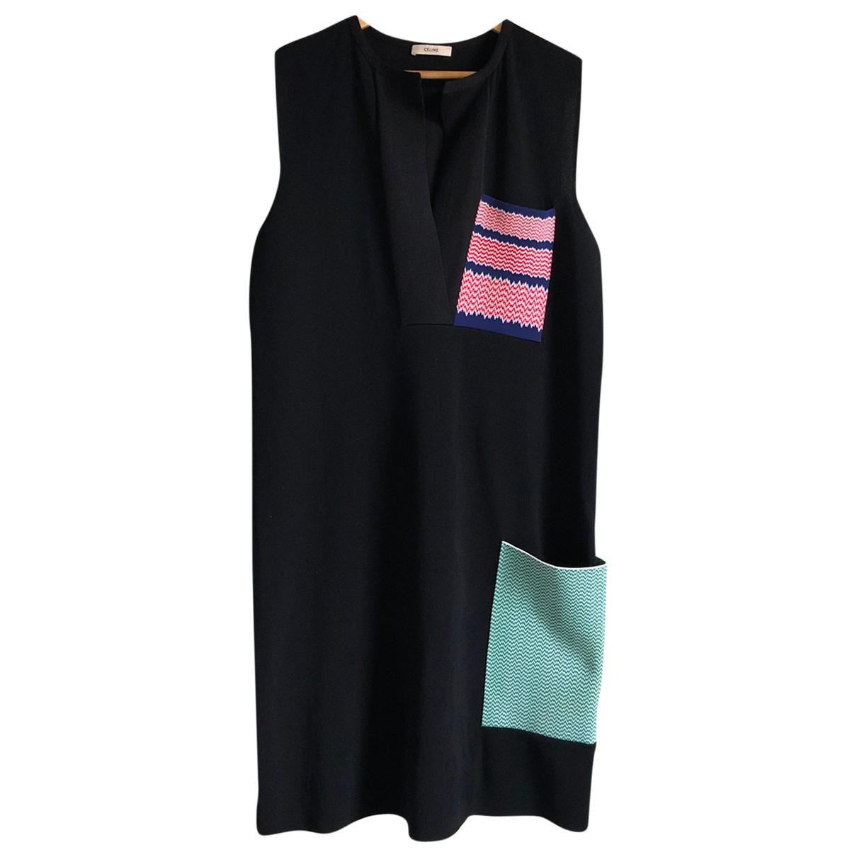 Celine \N Kleid in  Schwarz Viskose