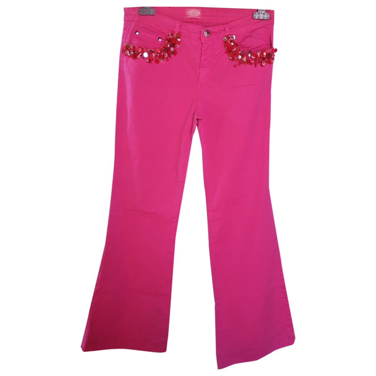 Blumarine \N Pink Denim - Jeans Trousers for Women 42 IT