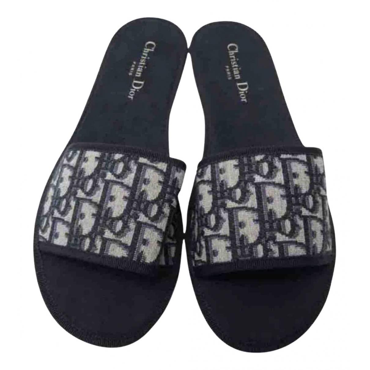 Dior Dway Blue Cloth Sandals for Women 40 EU