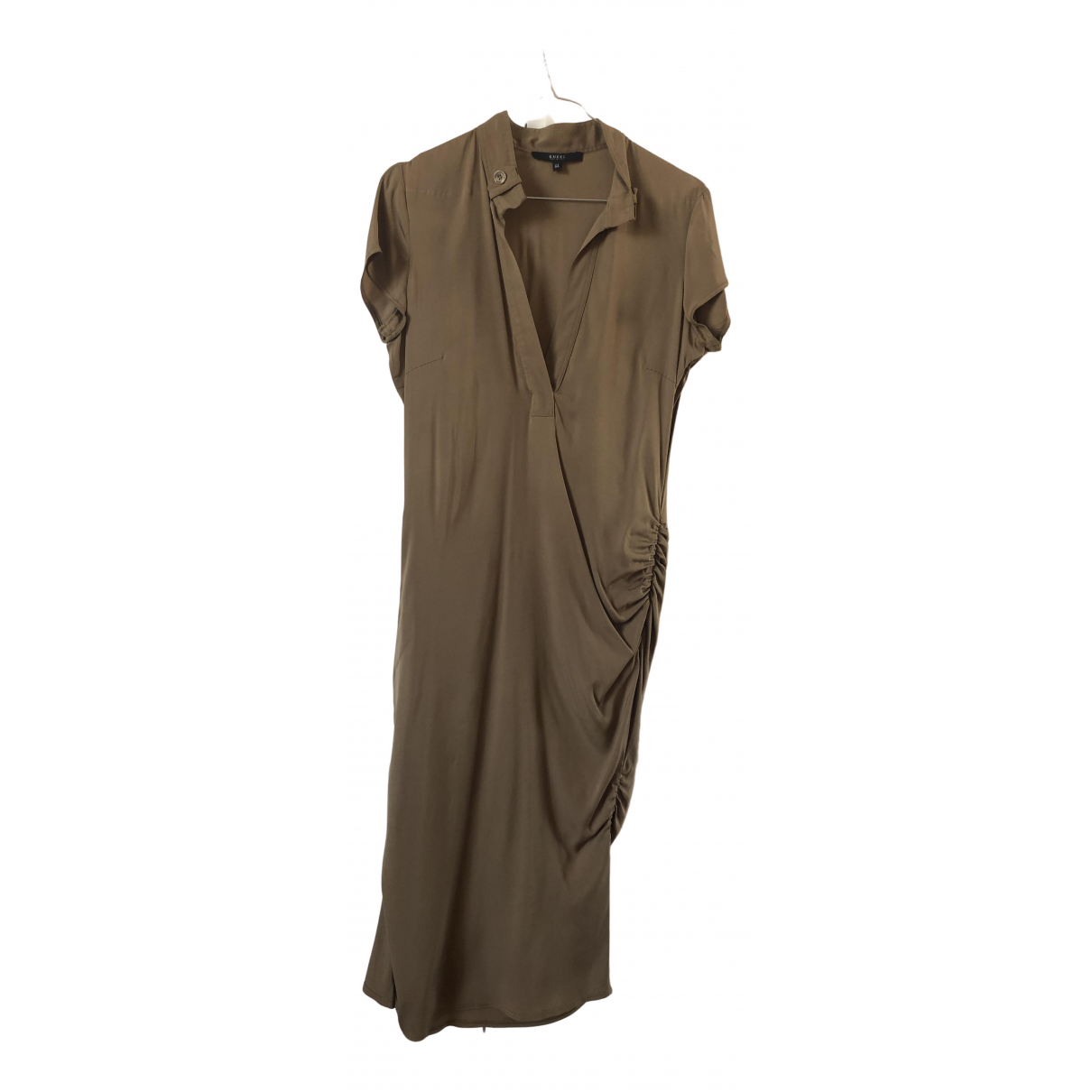 Gucci \N Kleid in  Khaki Seide
