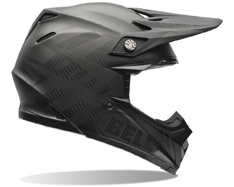Bell Racing 7060772 Moto-9 Carbon Matte Syndrome Black Helmet 55-56 | SM