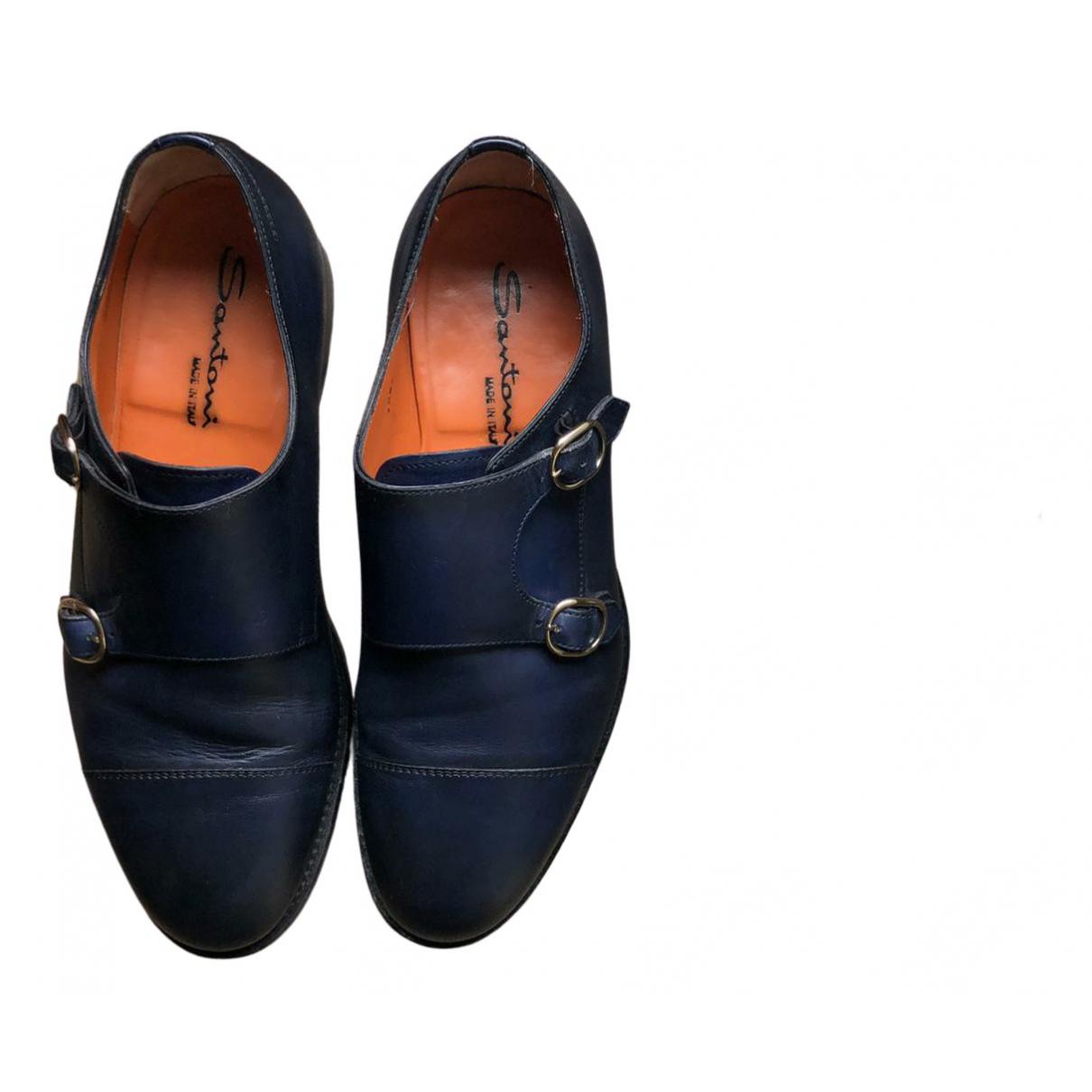 Santoni \N Schnuerschuhe in  Blau Leder