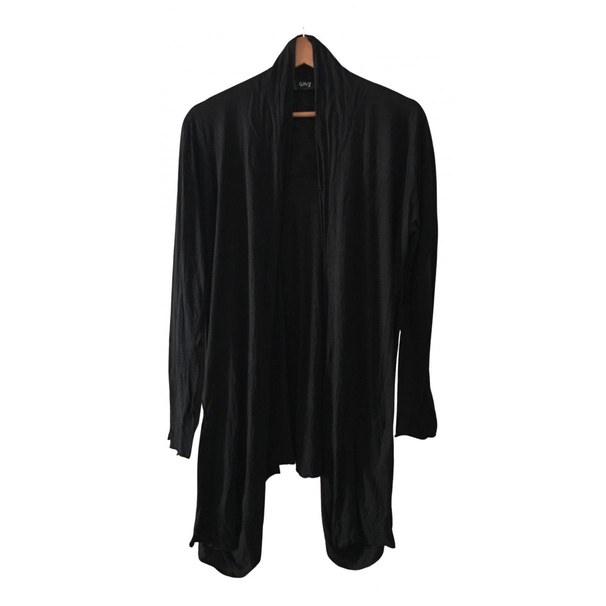 Non Signé / Unsigned Oversize Black Knitwear for Women XXL International