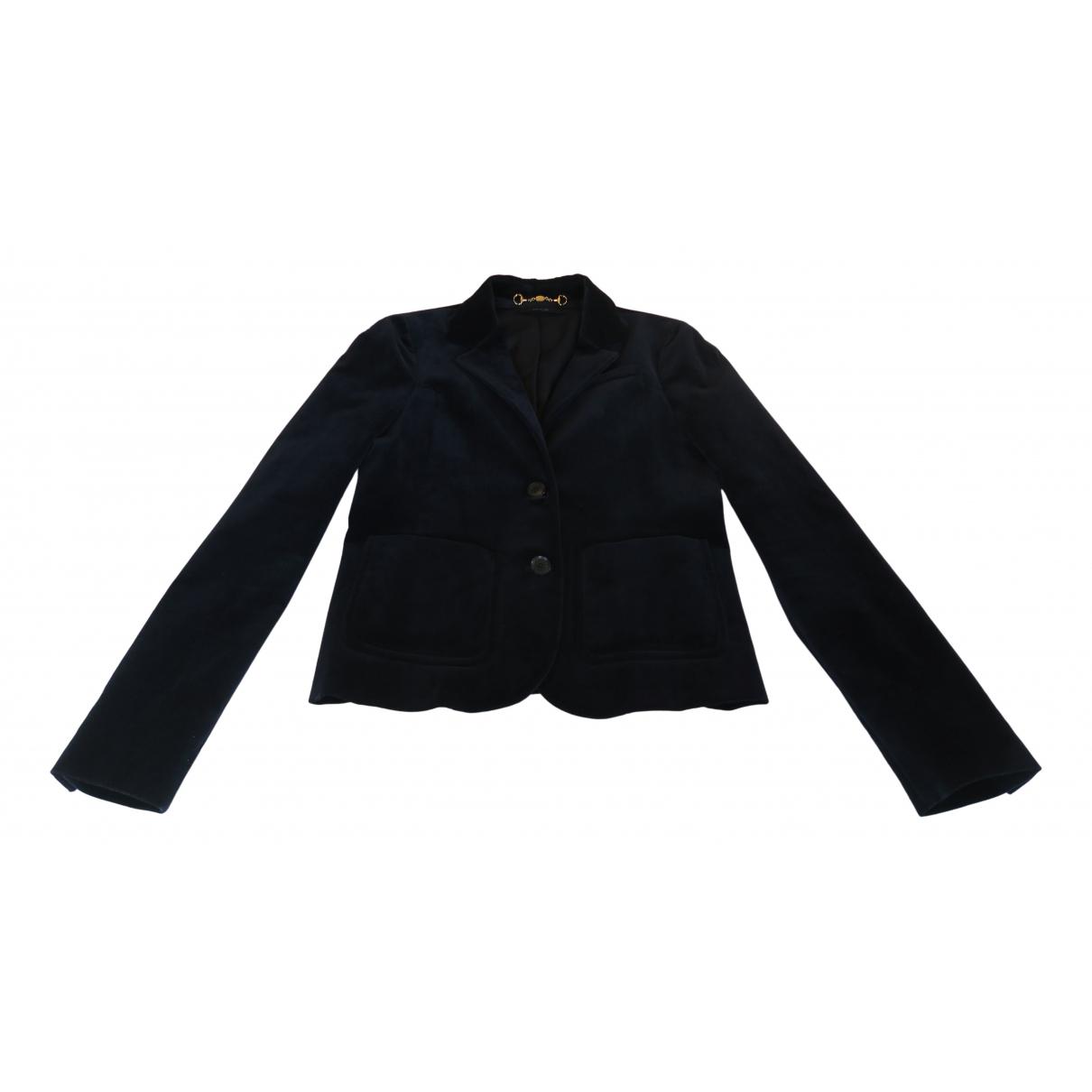Gucci N Navy Velvet jacket for Women 40 IT