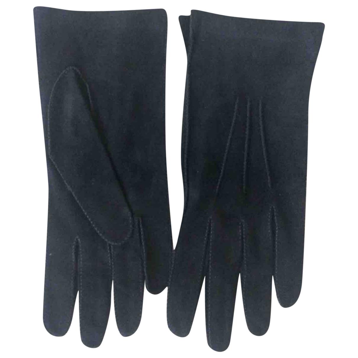 Bottega Veneta \N Handschuhe in  Schwarz Veloursleder