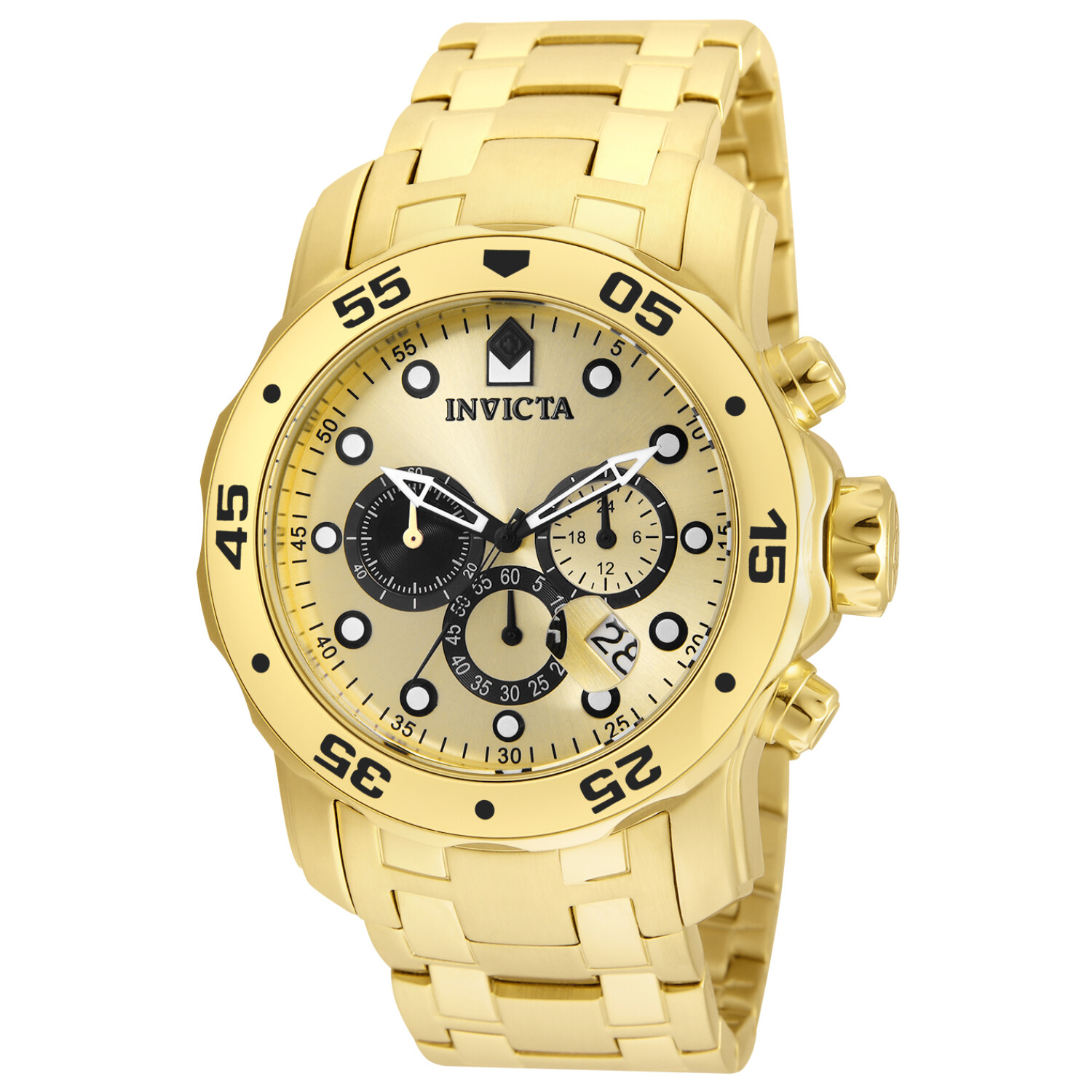 Invicta Men's Pro Diver INV-24850 Gold Stainless-Steel Quartz Dress Watch
