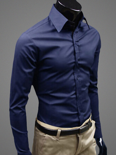 Milanoo Long Sleeves Shirt With Spread Neck