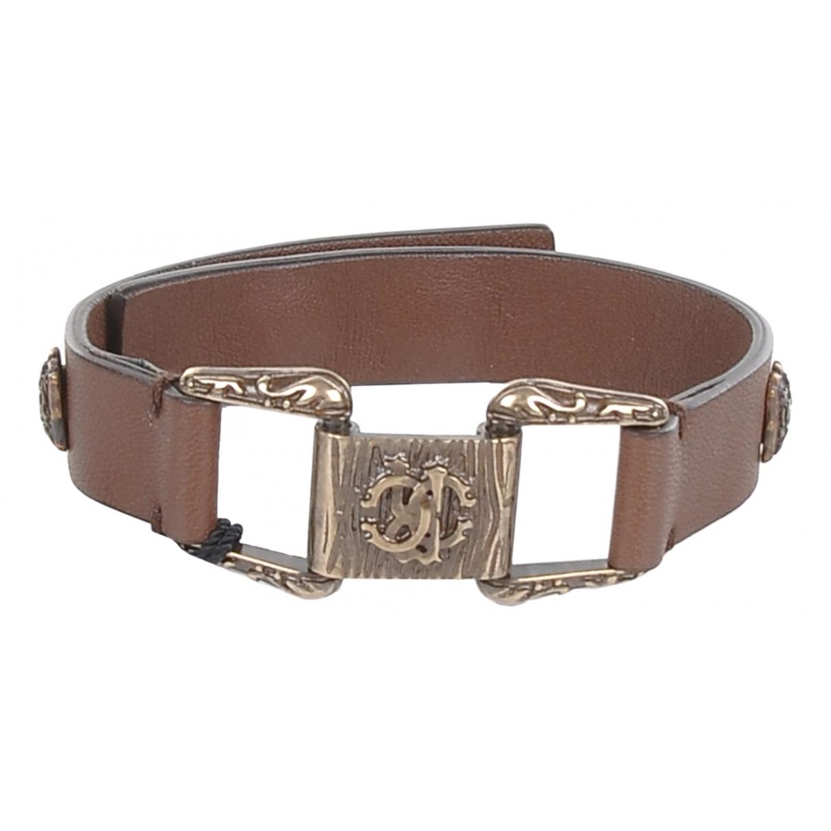 Roberto Cavalli \N Armband in  Braun Leder