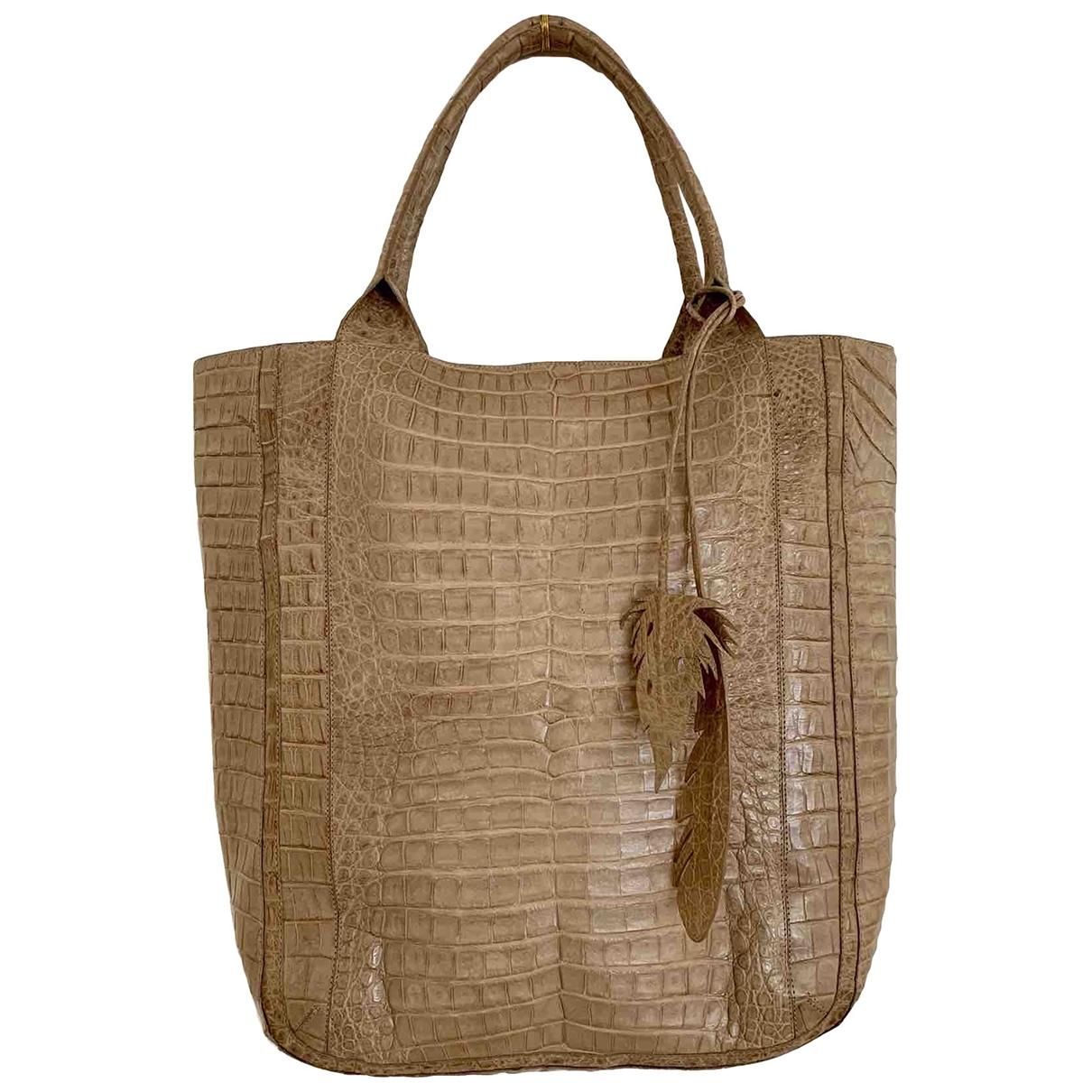 Nancy Gonzalez \N Brown Crocodile handbag for Women \N