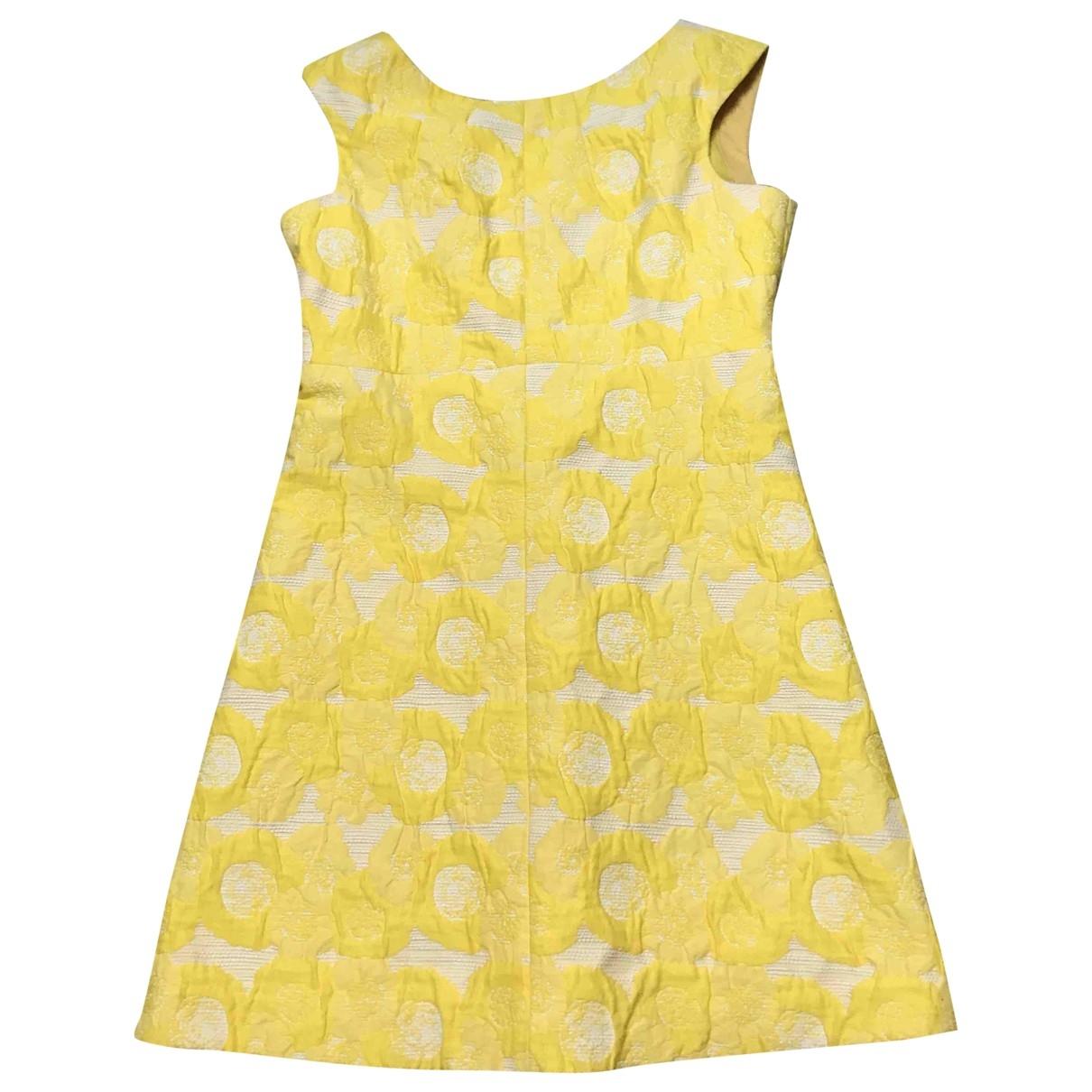 Tory Burch \N Kleid in  Gelb Baumwolle