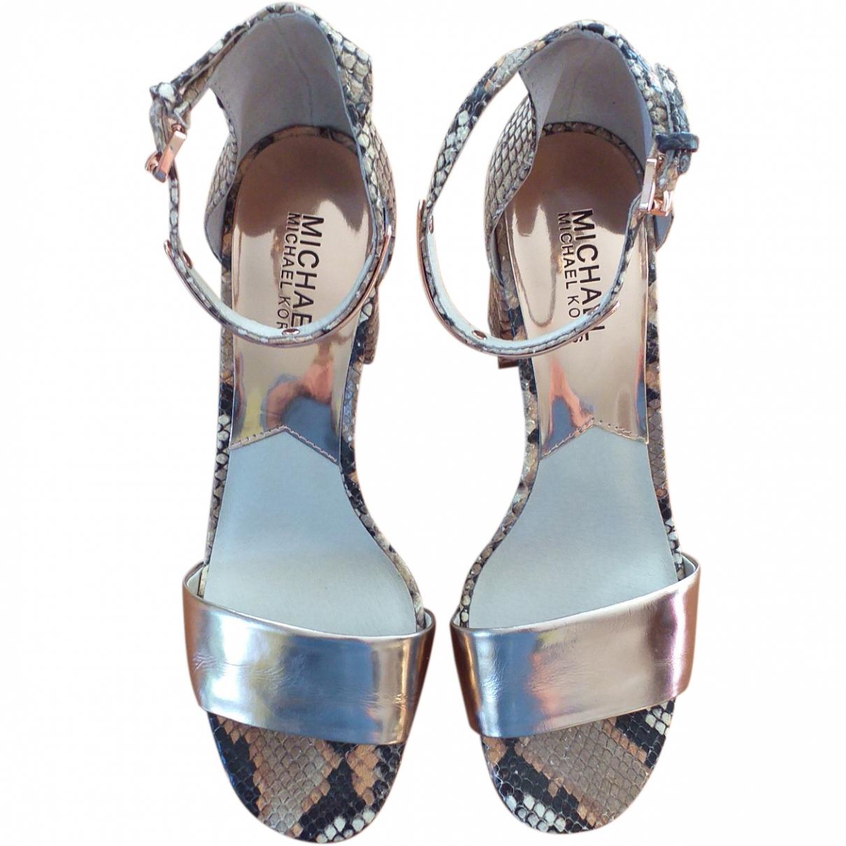Michael Kors \N Metallic Leather Sandals for Women 38.5 EU