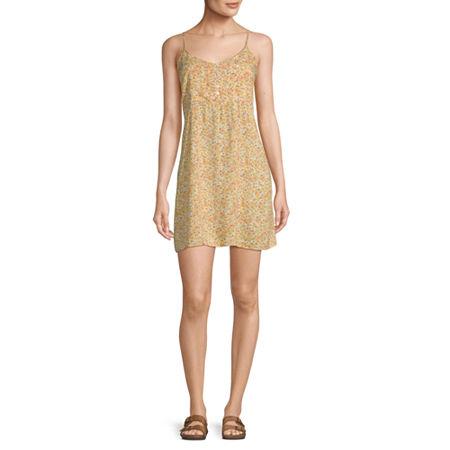Arizona Sleeveless Slip Dress-Juniors, X-small , Yellow
