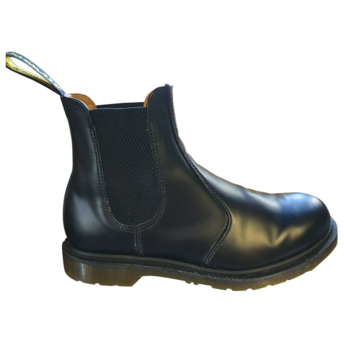 Dr. Martens Chelsea Black Leather Boots for Men 41 EU