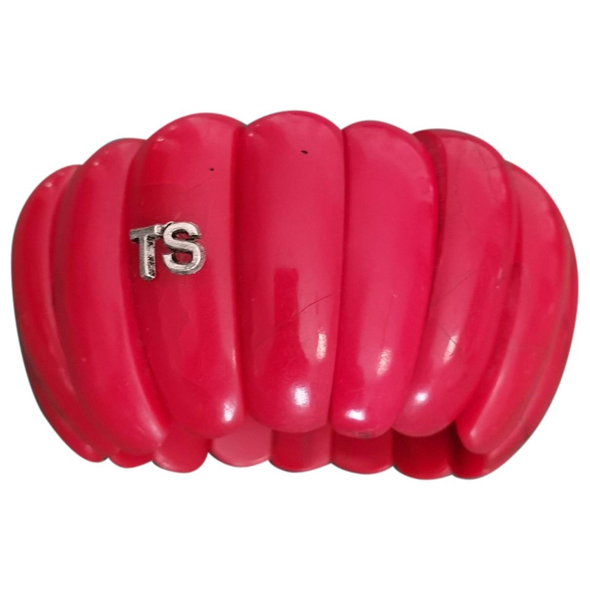 Twin Set - Bracelet   pour femme en autre - rouge