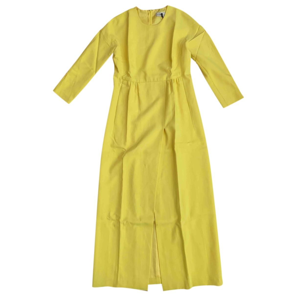 Merchant Archive - Robe   pour femme en laine - jaune
