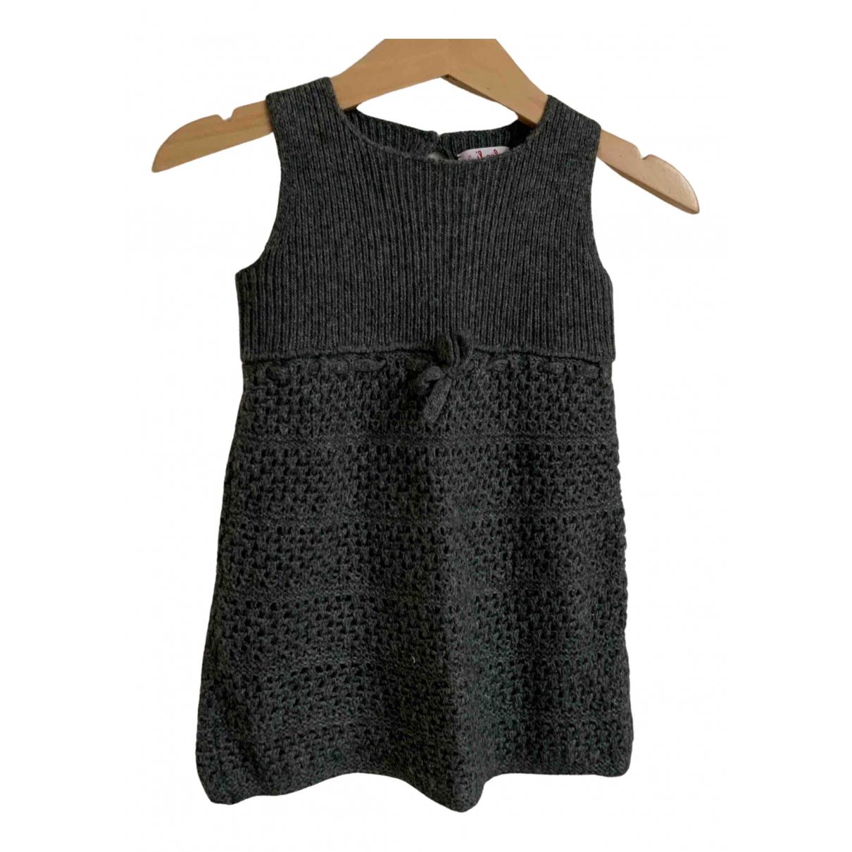Il Gufo \N Kleid in  Anthrazit Wolle
