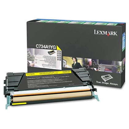 Lexmark C734A1YG Original Yellow Return Program Toner Cartridge