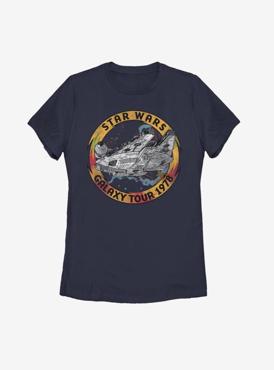Star Wars Episode IX The Rise Of Skywalker Galaxy Tour Womens T-Shirt