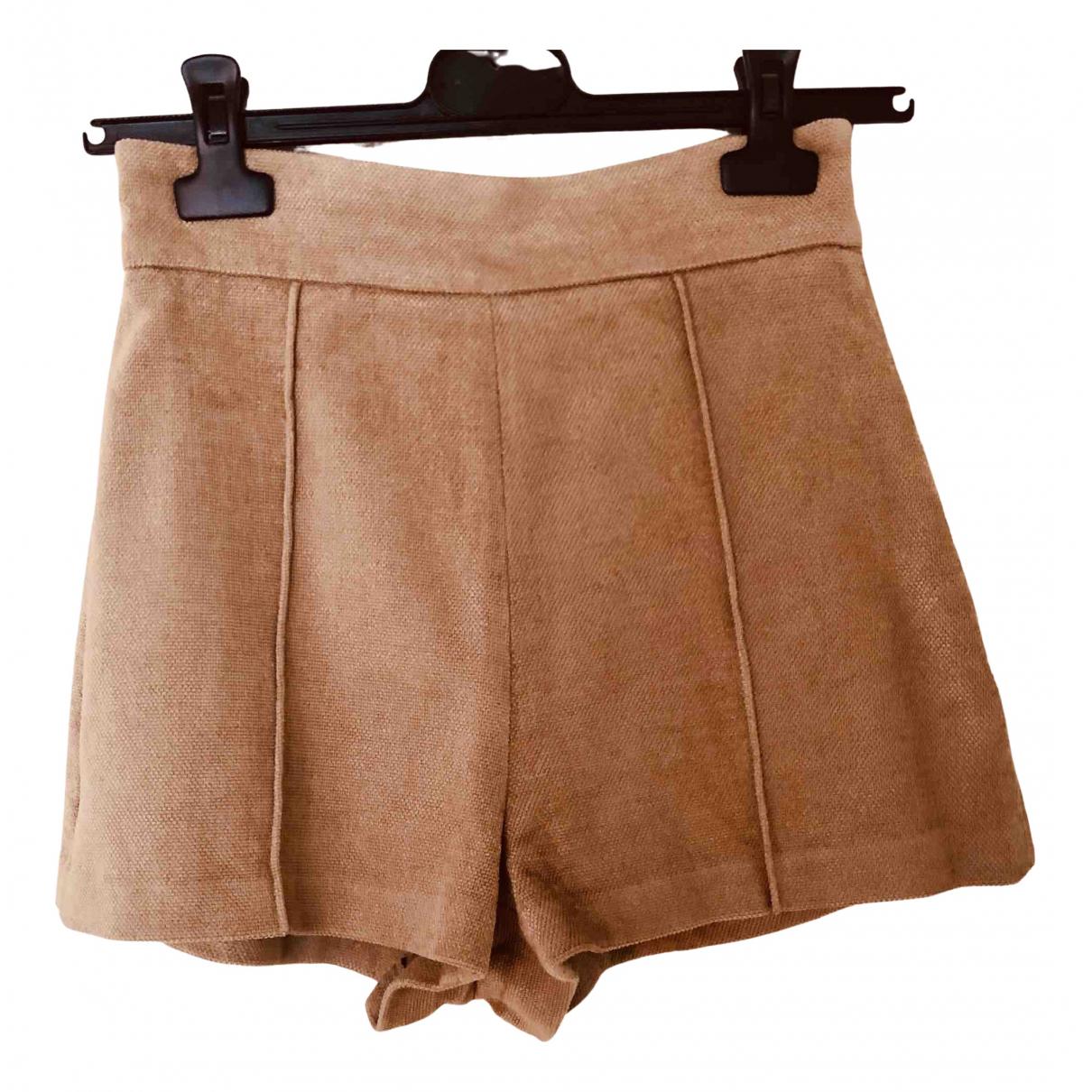 Elisabetta Franchi \N Shorts in  Kamel Baumwolle - Elasthan