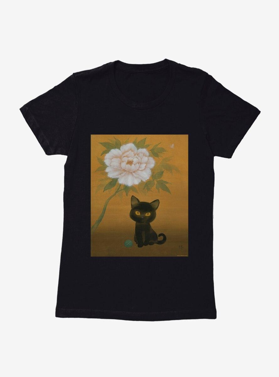 BL Creators: Martin Hsu Cat And Peony Womens T-Shirt