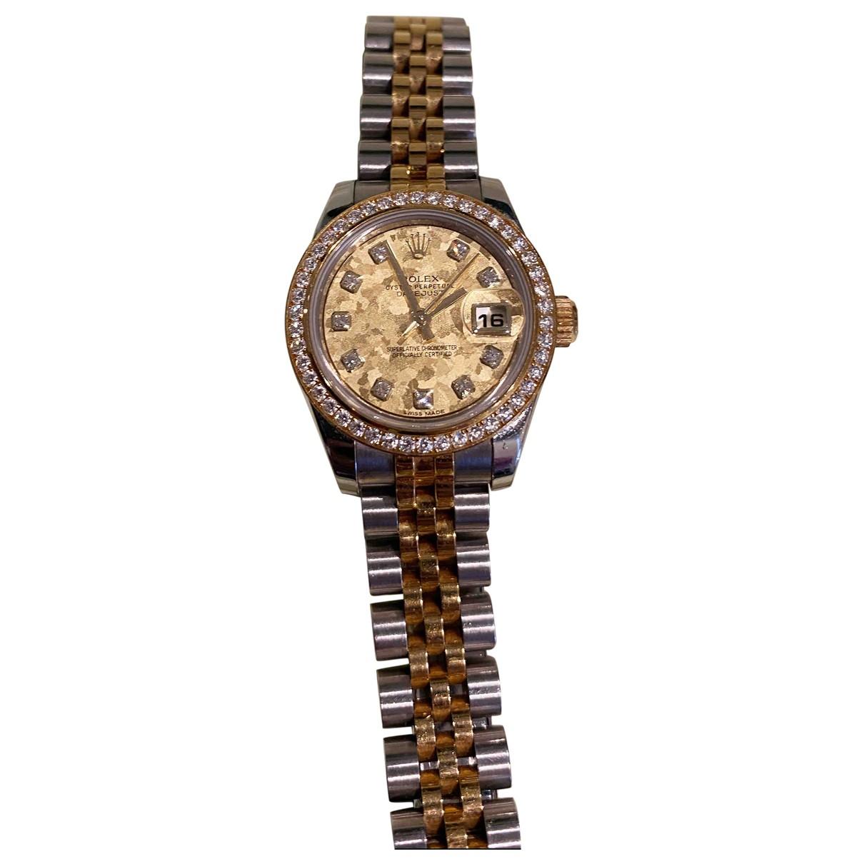 Rolex Lady DateJust 28mm Uhr in  Gold Gold und Stahl