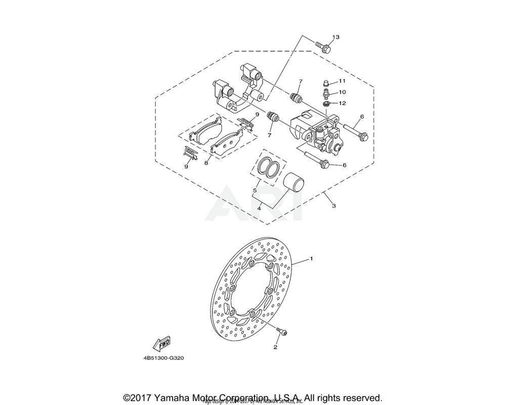 Yamaha OEM 5GM-25975-00-00 RUBBER, BUSHING