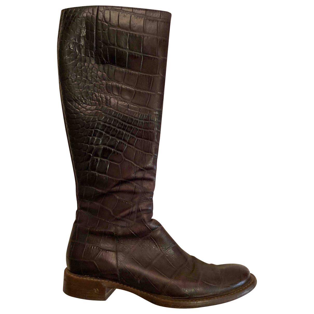 Celine - Boots   pour femme en cuir - violet