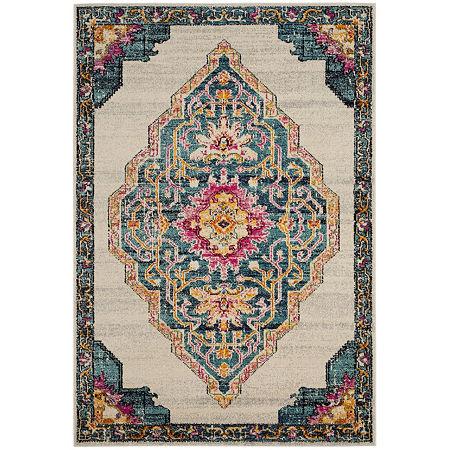 Safavieh Monaco Collection Ilean Oriental Square Area Rug, One Size , Multiple Colors