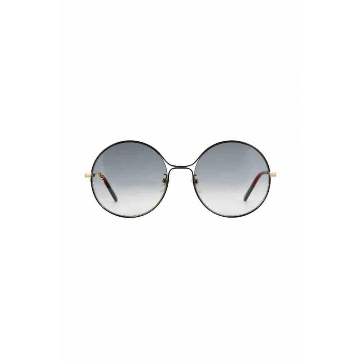 Gucci \N Black Metal Sunglasses for Women \N