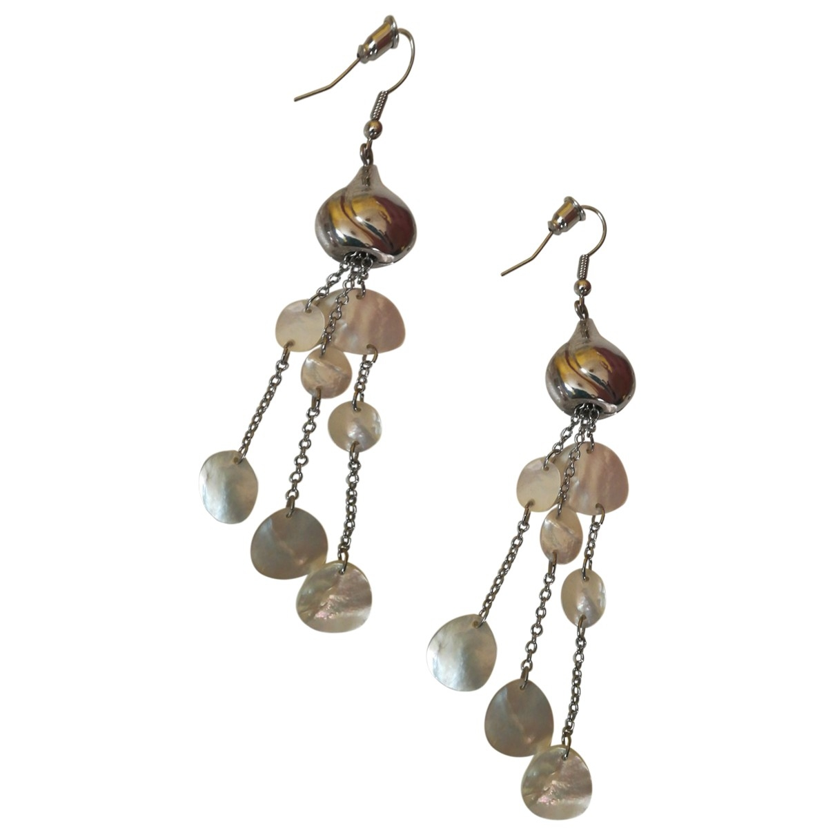 Non Signé / Unsigned Corail White Metal Earrings for Women \N