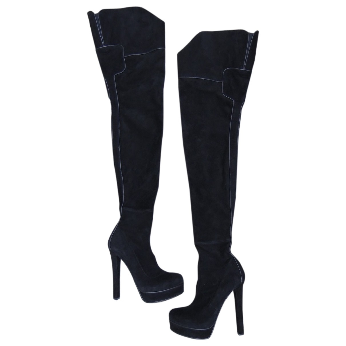 Gucci \N Black Suede Boots for Women 37 EU
