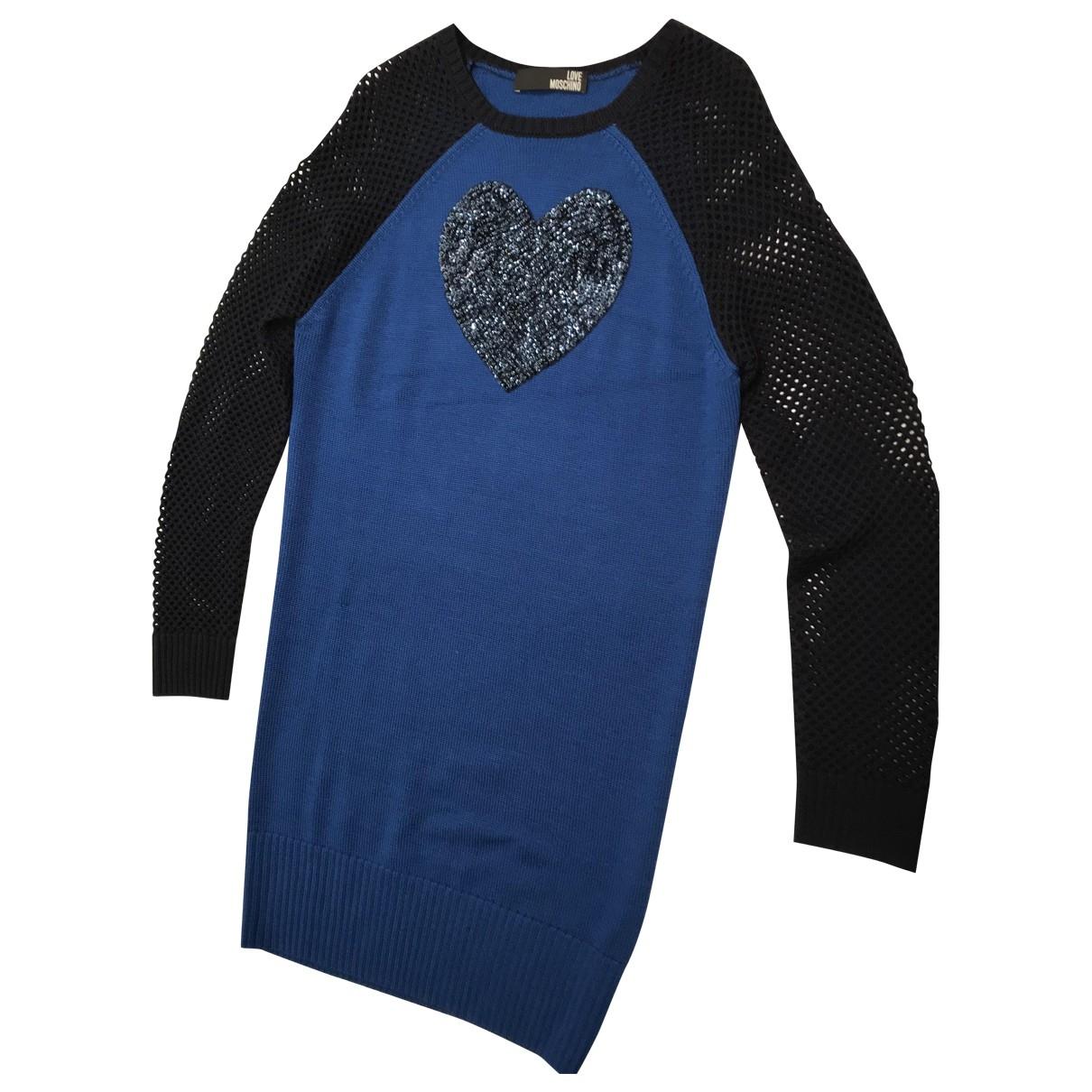 Moschino Love \N Blue Wool dress for Women 44 IT