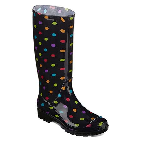 Arizona Womens Winston Rain Boots, 8 Medium, Black