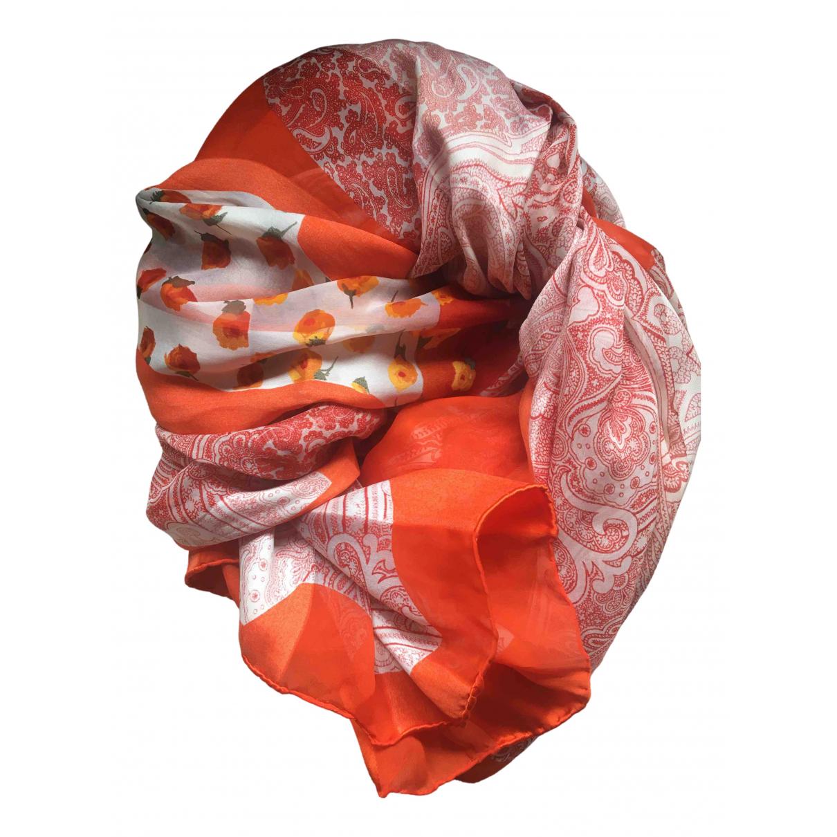 Jean Patou \N Tuecher in  Orange Seide