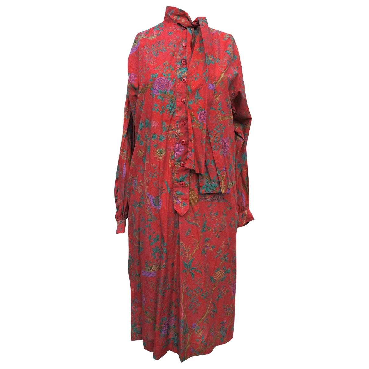 Lanvin - Robe   pour femme en coton - multicolore