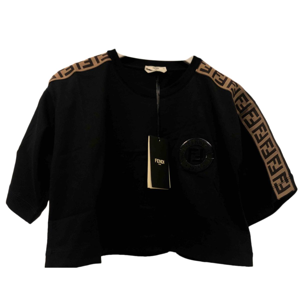 Fendi N Black Cotton  top for Women XS International