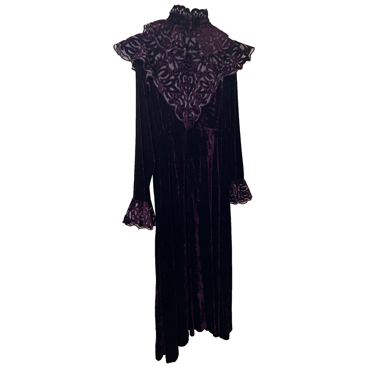 Zimmermann \N Kleid in  Lila Samt