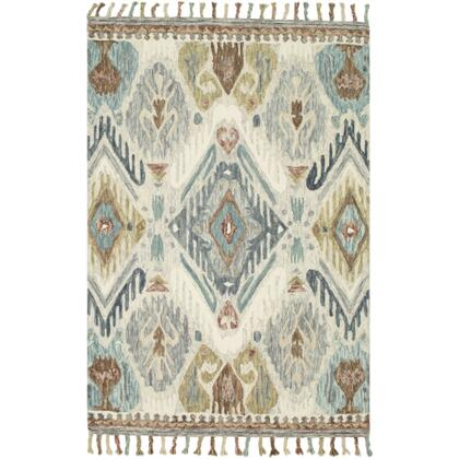 Bonifate BFT-1014 8' x 10' Rectangle Global Rug in Medium Grey  Sea Foam  Teal  Camel  Cream
