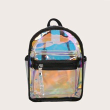 Holographic Clear Backpack