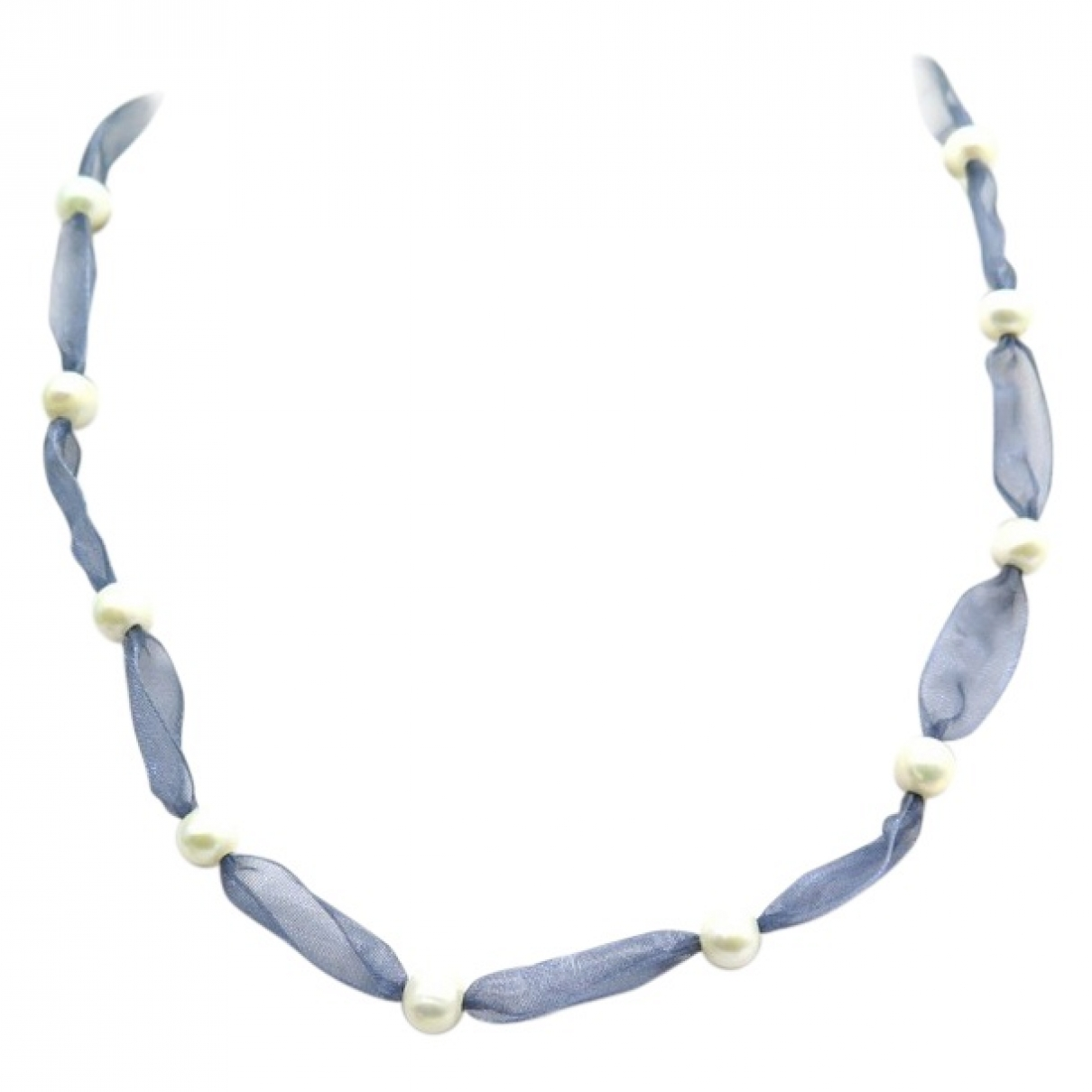 Non Signé / Unsigned \N Blue Pearl necklace for Women \N