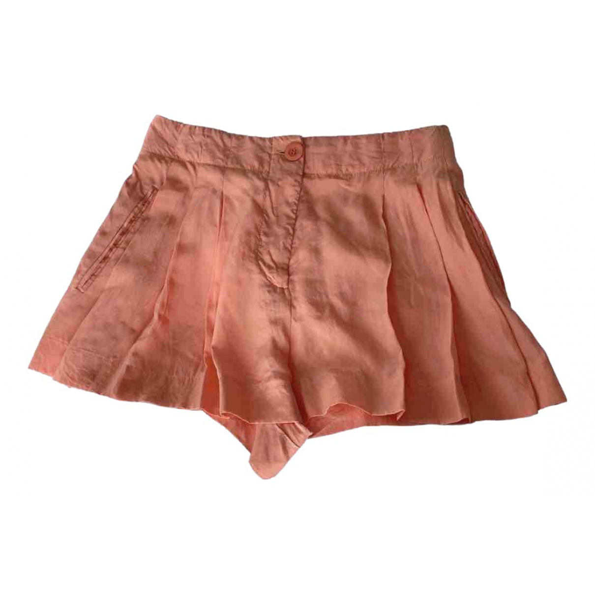 Emilio Pucci N Pink Silk Shorts for Women 34 FR