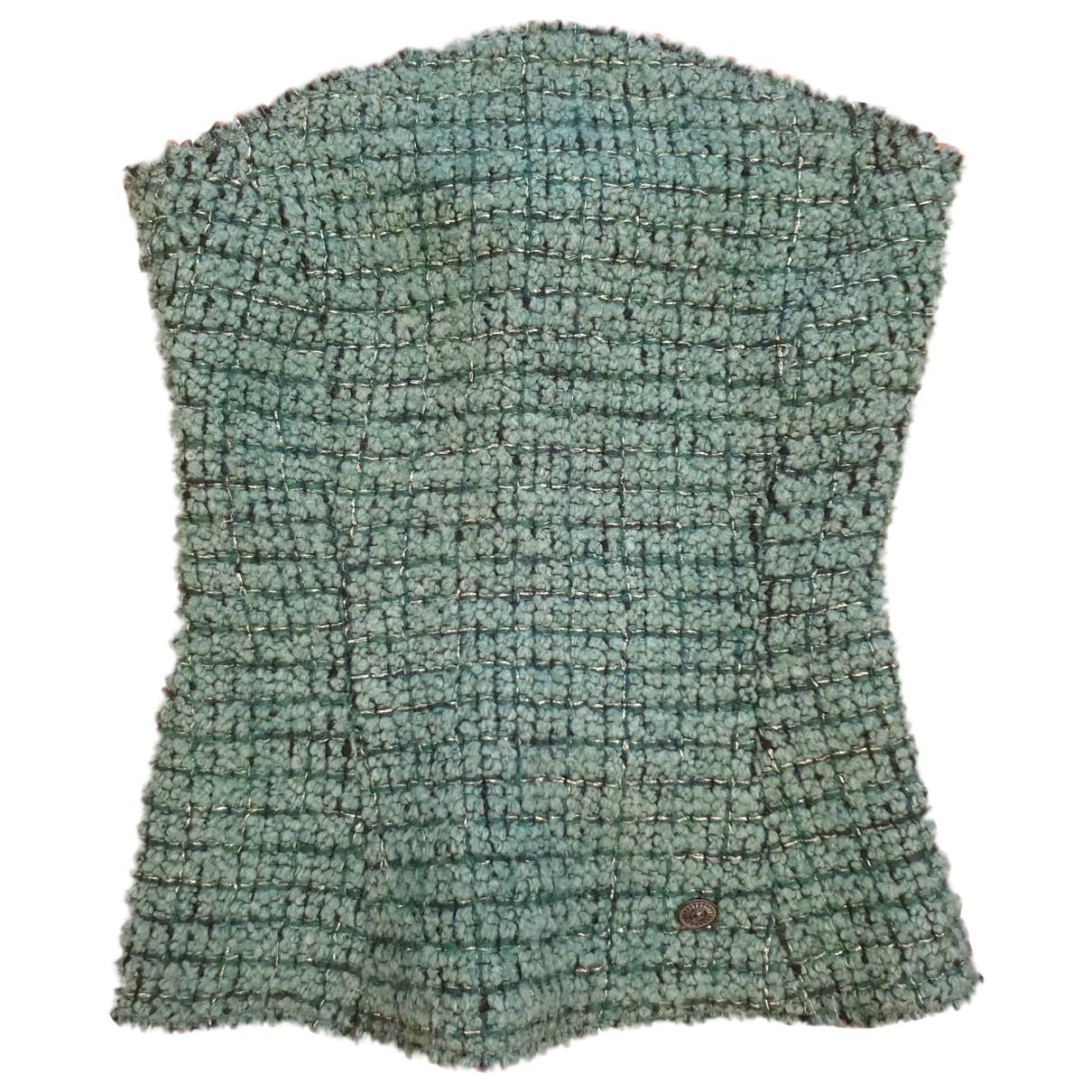 Chanel \N Green Tweed  top for Women 38 FR
