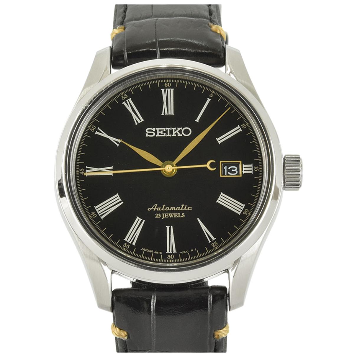 Seiko N Black Steel watch for Men N