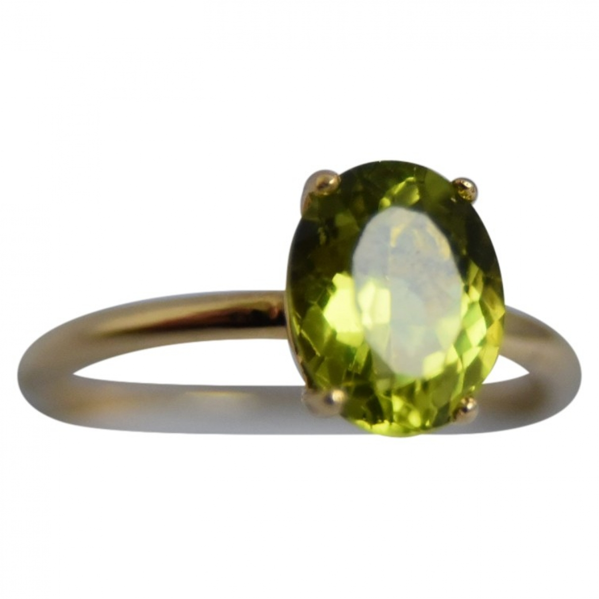 Non Signé / Unsigned Solitaire Gold Yellow gold ring for Women 55 EU