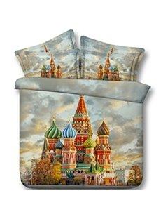 Beautiful Saint Basil's Cathedral Print 5-Piece Comforter Sets
