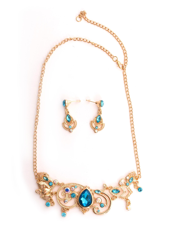 Kostuemzubehor Schmuckset Oriental 2-tlg. Farbe: blau/gold