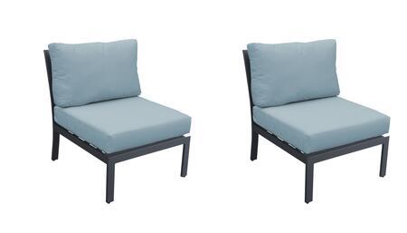 TKC067b-AS-DB-SPA Armless Chair 2 Per Box - Ash and Spa