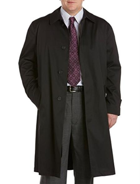 Mens Extra Long Outerwear Black Coat