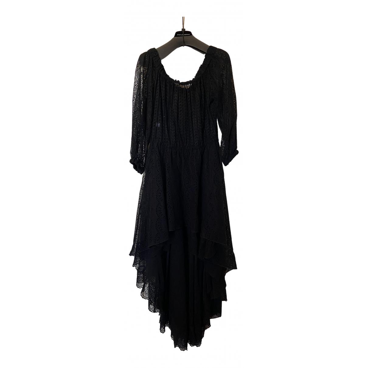 Philosophy Di Alberta Ferretti N Black Silk dress for Women 42 IT